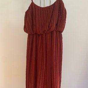 BCBG Max Azria High-Low Pleated Dress